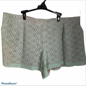 Victoria Beckham for target lace shorts 22W floral